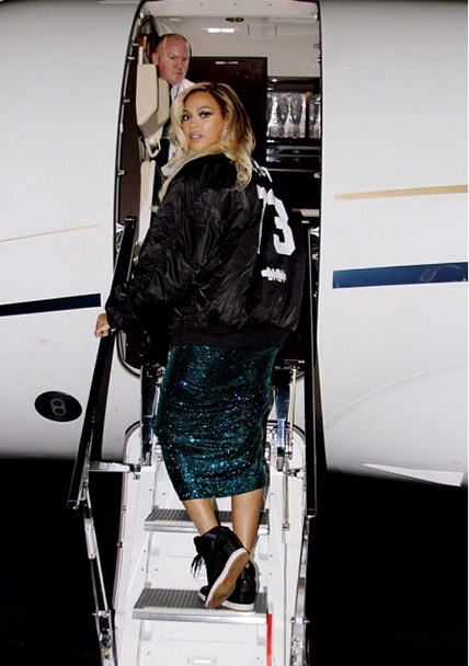 beyonce private jet