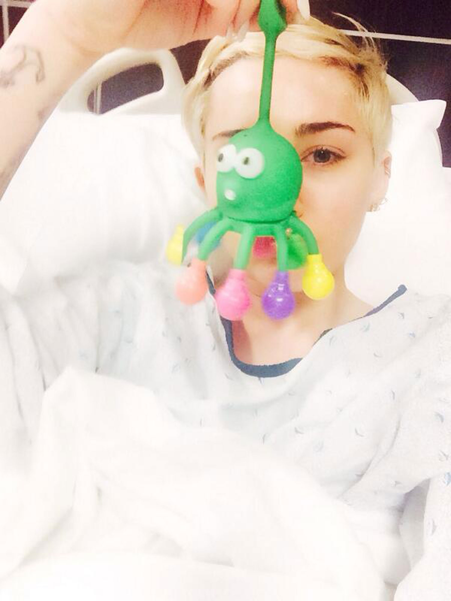 "Miley Cyrus was hospitalized and had to cancel her Kansas City ""Bangerz Tour"" show."