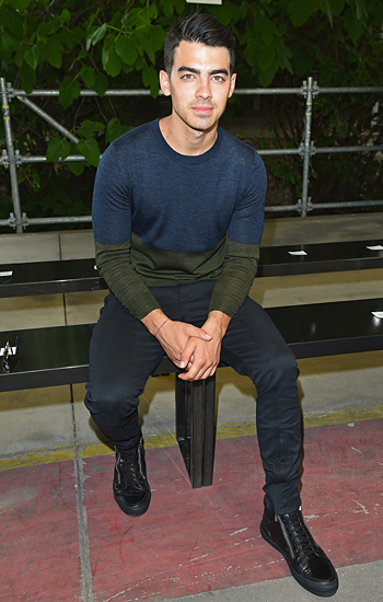 Joe Jonas Milan Fashion Week
